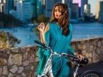 Parineeti Chopra explores Brisbane with bike ride