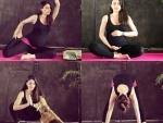 Soha Ali Khan performs yoga asanas with her baby bump
