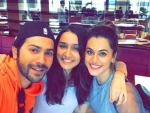 Varun Dhawan, Shraddha Kapoor, Taapsee Pannu catch up for lunch