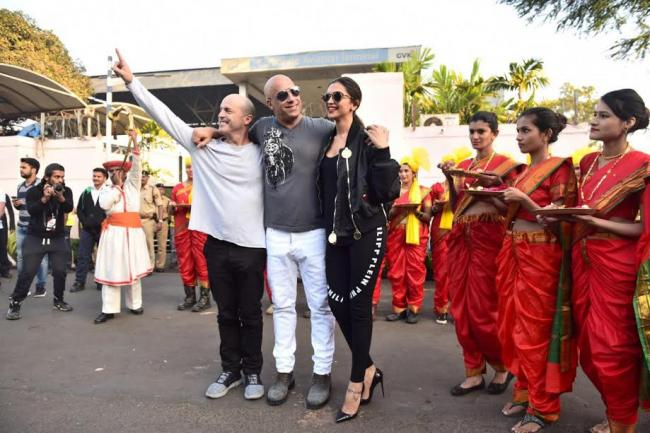 Vin Diesel in India to promote xXx: Return of Xander Cage with Deepika Padukone