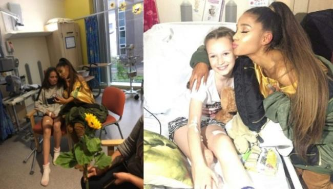 Ariana Grande visits fans hurt in Manchester Attack