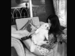 Riya Sen poses with pet, shares picture on social media