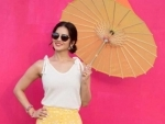 Sunny Leone shares her cute image with an umbrella