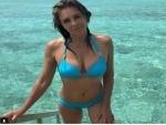 Elizabeth Hurley shares bikini image on social media