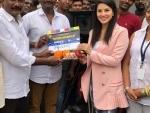 Sunny Leone starts shooting for Veeramadevi