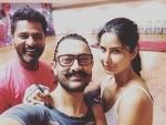 Katrina Kaif, Aamir Khan, Prabhu Deva click picture together, share on social media