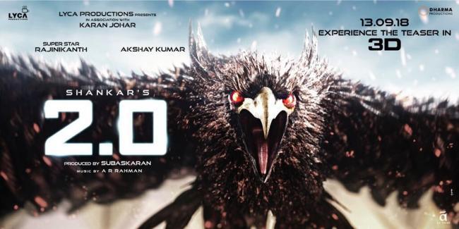 Teaser of Rajinikanth's 2.0 to release next week