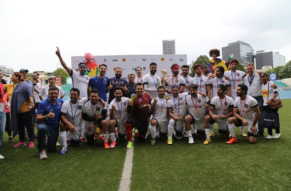 Abhishek Bachchan shares pictures of his winning Football team from Singapore