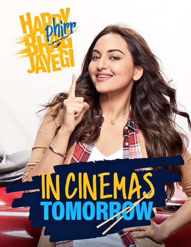 Sonakshi Sinha's Happy Phirr Bhag Jayegi releases