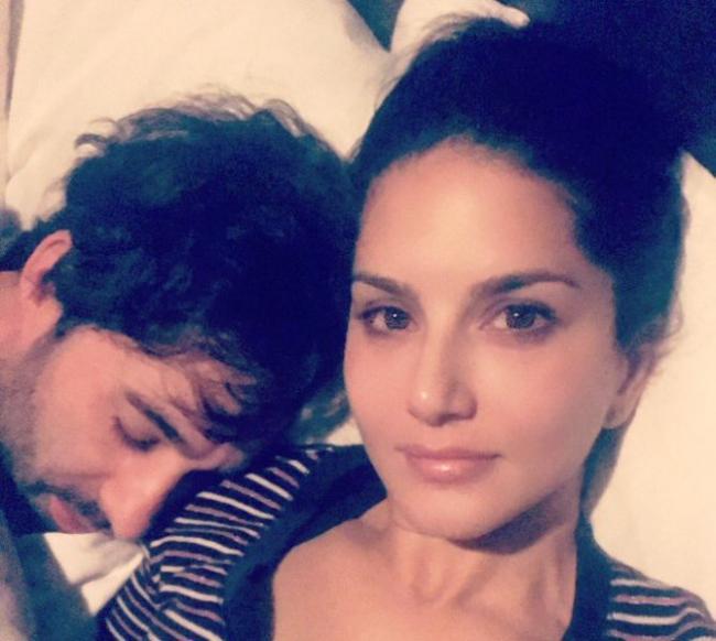 Sunny Leone shares cute image with husband Daniel on social media