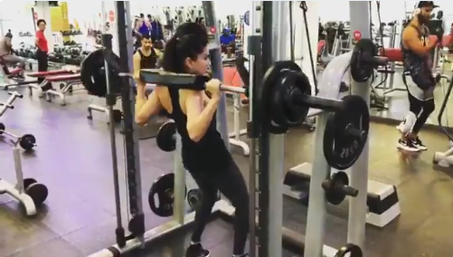 Sunny Leone shares her gym video on social media