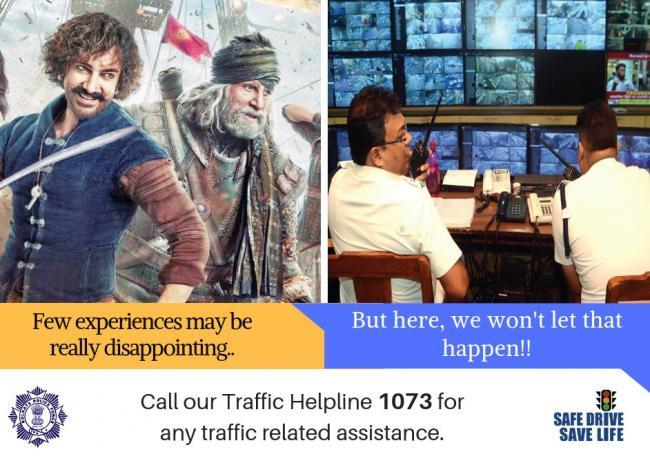 Kolkata Traffic Police releases Thugs of Hindostan meme- cum-traffic advisory for public