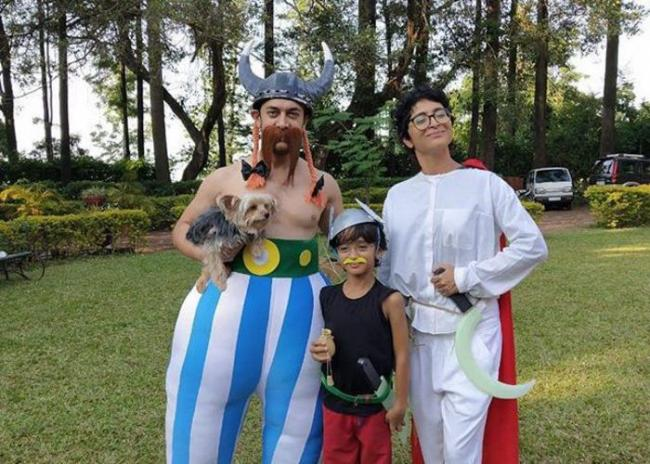 Aamir Khan becomes 'Obelix' at family party