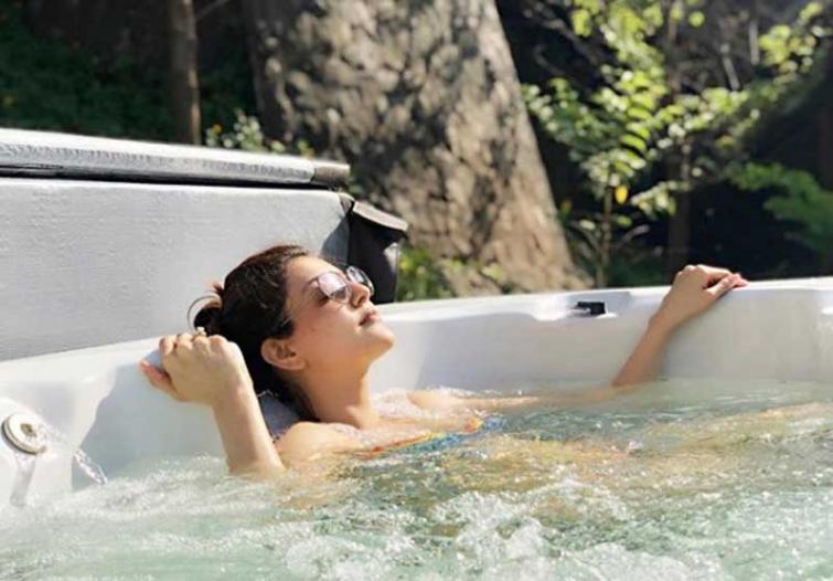 Kajal Aggarwal enjoys her pool time to beat the heat