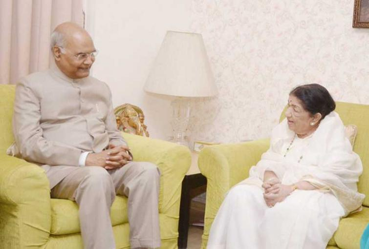 Deeply honoured and humbled by President Kovind's visit to my residence: Lata Mangeshkar