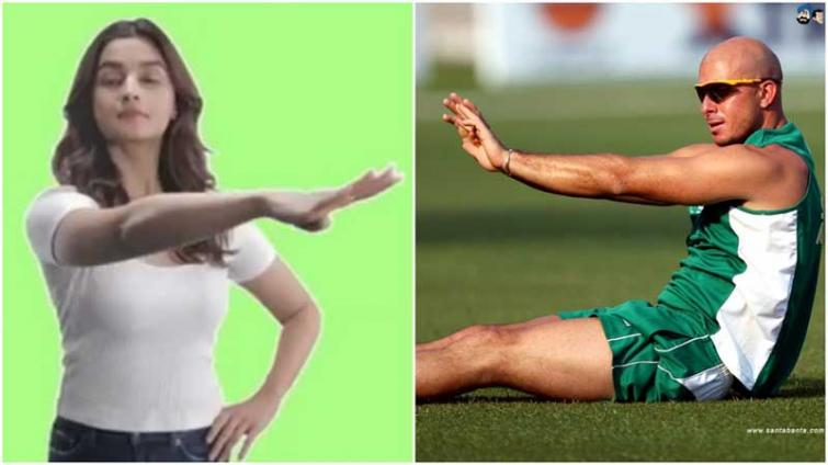 South African batsman Gibbs shares Alia Bhatt's GIF without knowing her, 'SOTY' actress gives 'four' reply