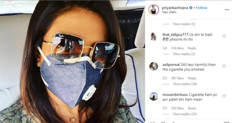 Priyanka Chopra faces social media trolls after posting mask covered image online