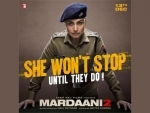 Ahead of release, makers unveil another poster of Rani Mukherji's Mardaani 2