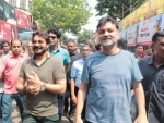 Team Gumnaami participates in a rally to launch new song of film