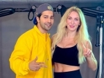 WWE superstar Charlotte Flair learns Bollywood dance moves from Varun Dhawan