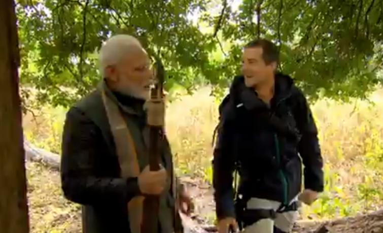 Man Vs Wild edition featuring PM massively boosts ratings of Discovery Network