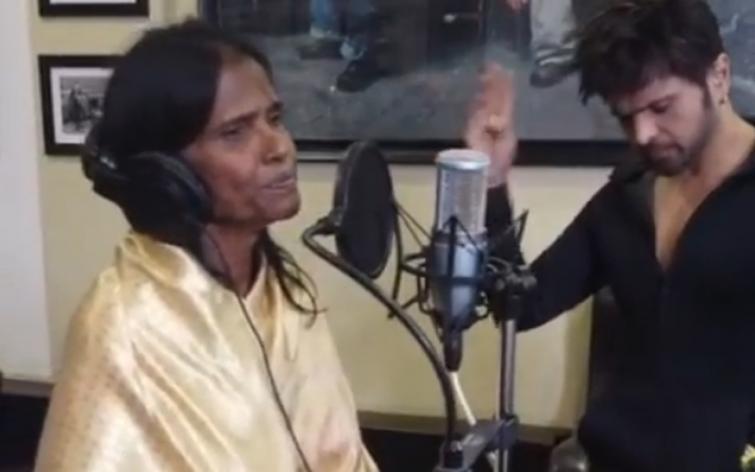 Himesh Reshammiya's video on Ranu Mondal recording song for him goes viral online