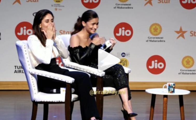 Alia Bhatt accidentally utters inappropriate word on MAMI stage, leaves Kareena shocked
