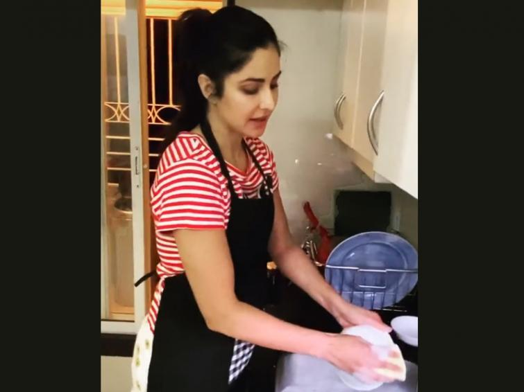Coronavirus: Katrina Kaif washes dishes in times of self-isolation