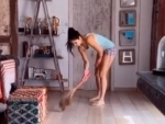 COVID-19: After washing dishes, Katrina Kaif now sweeps floor being in self-quarantine