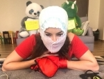 Sunny Leone tries funny face masks in times of COVID-19