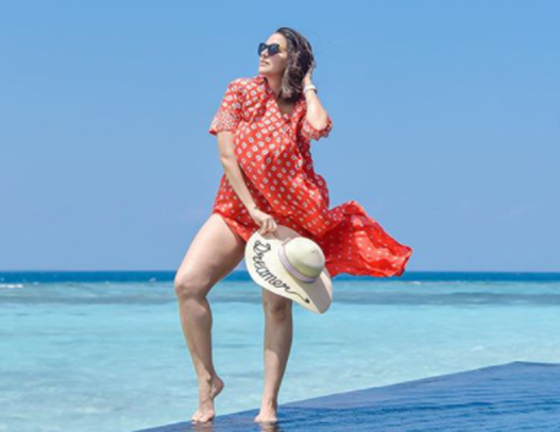 Neha Dhupia shares gorgeous images of herself from Maldives trip