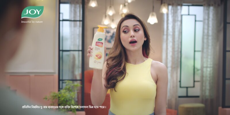 Mimi Chakraborty features in Joy Personal Care's winter-care product