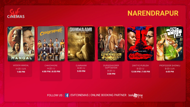 SVF Cinemas's reopen today with a ticket prize of Rs 11 only