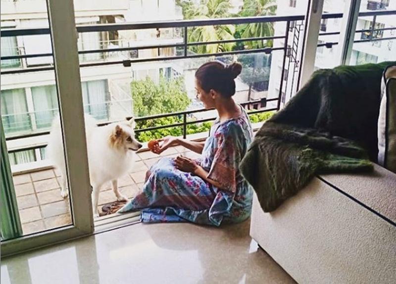 COVID-19 survivor Malaika Arora spends Sunday with Casper