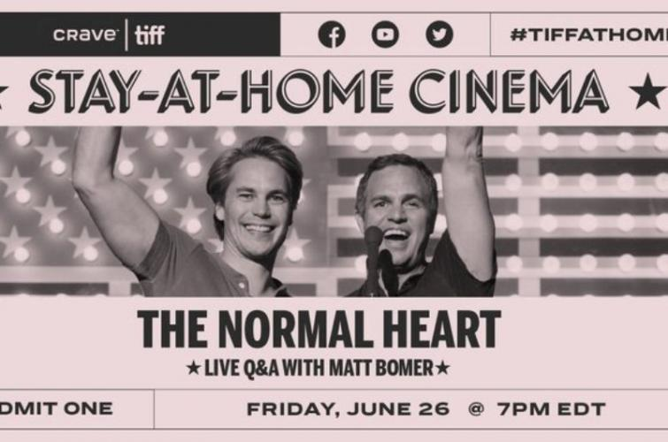 Canada: TIFF presents special home-screening of the play 'The Normal Heart' on Crave