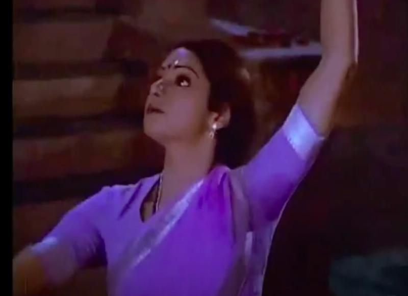 Sridevi performing tandav dance in Chaalbaaz