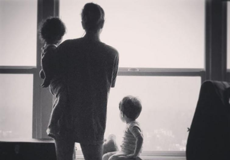 In her monochrome image with children, Sunny tries to find 'sunshine' after darkness