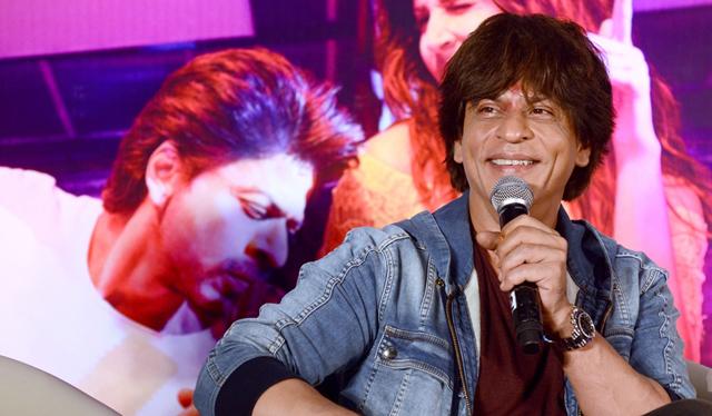 SRK during a film promotion in Kolkata
