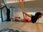 Sara Ali Khan performs aerial yoga even during Maldives vacation, shares video on Instagram