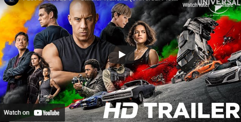 NBCUniversal drops trailer of Fast and Furious 9