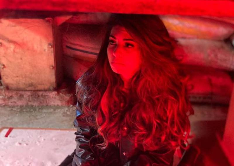 Jacqueline Fernandez shares images from set of Bhoot Police
