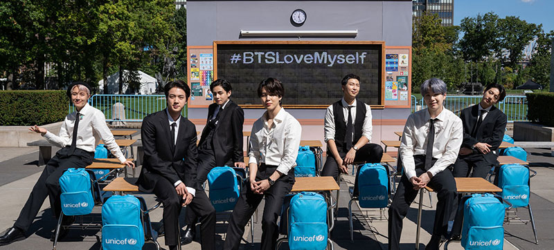 BTS and UNICEF celebrate 4 years of the 'Love Myself' campaign to promote child self-esteem