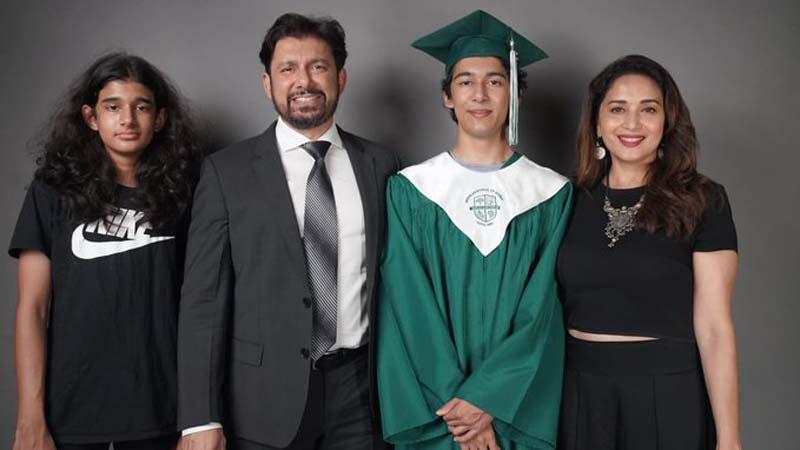 Proud moment: Madhuri Dixit's son Arin graduates from high school