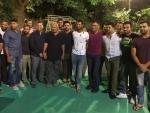 Indian cricketers dine at Cheteshwar Pujara's residence