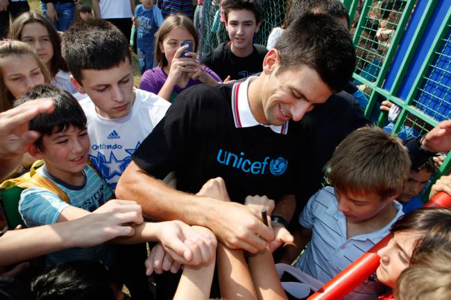 Top tennis player Novak Djokovic takes centre court for children as new UNICEF Goodwill Ambassador