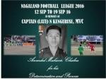 Army to honour Captain (late) N Kenguruse, MVC through Nagaland Football League
