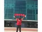 Chris Gayle visits MU stadium
