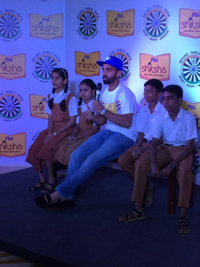 Ajinkya Rahane bats for P&G Shiksha