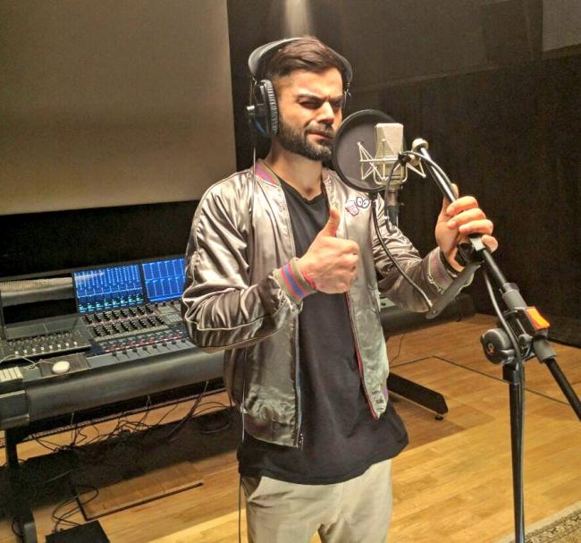 Kohli shares picture from AR Rahman's studio
