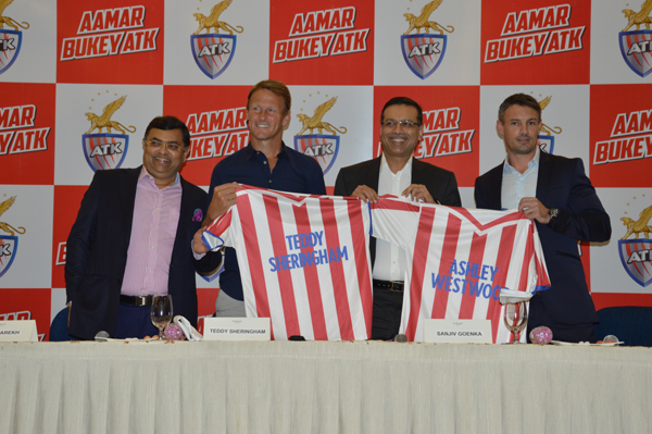 ATK presents new coach Teddy Sheringham along with technical director Ashley Westwood for the fourth season of ISL